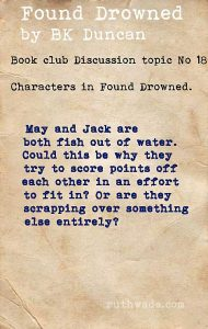 Found Drowned book club discussion topics: 18 characters