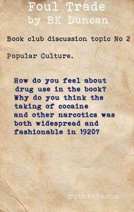 Foul Trade book club discussion topics: 2 popular culture