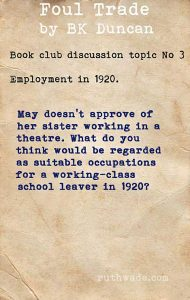 Foul Trade book club discussion topics: 3 employment in 1920