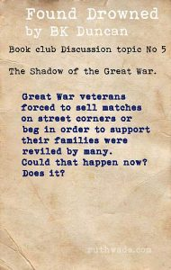 Found Drowned book club discussion topics: 5 in the shadow of the Great War