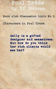 Foul Trade book club discussion topics: 8 characters