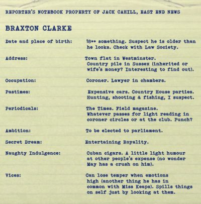 Foul Trade by BK Duncan. Character dossier: Braxton Clarke